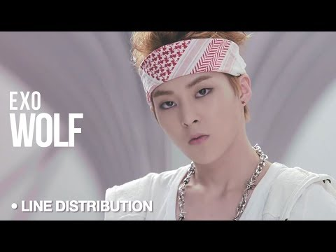 EXO - Wolf: Line Distribution