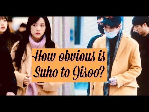 EXO Suho & BLACKPINK Jisoo (Jiho) moments Part 2