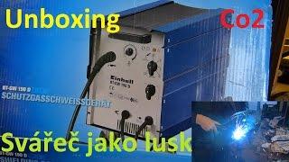 Unboxing EINHELL BT-GW 190 D Co2 Svářečka + Test :) BEZ KOMPRESE (: