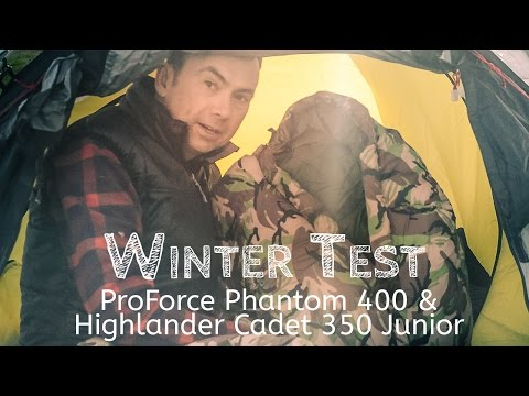 video Phantom 400 and Cadet 350: Adult and Child 'Camo' Sleeping Bag Test