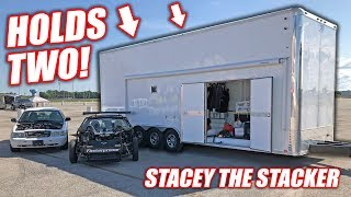 "We Bought a Used 2-Car STACKER Trailer! Introducing ""Stacey the Stacker"" (SHE'S TALL!)"