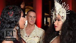 Cardi B Talks To Nicki Minaj At 2018 Met Gala