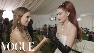 Gigi Hadid on Being a Farm Mom & Celebrating America | Met Gala 2021 With Emma Chamberlain | Vogue