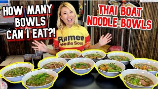 How MANY THAI NOODLE BOATS CAN I EAT?!! Lotus Kitchen in Fresno, CA #RainaisCrazy