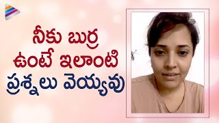 Jabardasth anchor Anasuya strong reply to netizen..