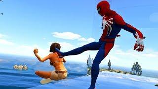 GTA 5 Water Ragdolls   SPIDERMAN Jumps/Fails (Euphoria physics   Funny Moments)