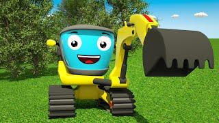 Мультики про Машинки для Детей! Экскаватор Бульдозер Рабочие Машины в Городе Все Серии 2018