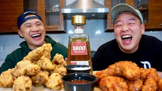 Eminem Vs. Nick Cannon - Korean Fried Chicken vs American Fried Chicken - MukBang with David So