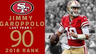 #90: Jimmy Garoppolo  (QB, 49ers) | Top 100 Players of 2018 | NFL