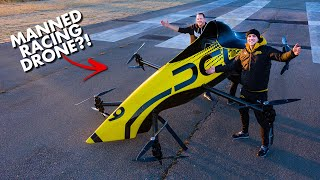 First Manned Aerobatic RACING Drone - Will it FLIP? 😲