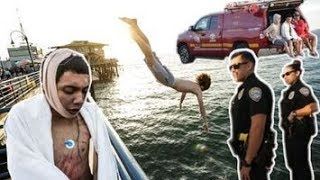 He Almost Died Pier Jumping!
