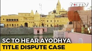 SC to decide date of Ayodhya case hearing today..