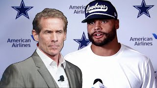 Sports Media calls for Skip Bayless to be FIRED after his controversial comments on Dak Prescott!