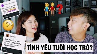 Q&A Tình Cảm Tuổi Học Trò - Ăn thử Miến Chua Cay (Anh Thư ft. Bobo)