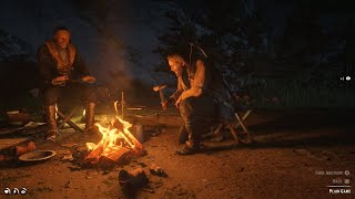 Red Dead Redemption 2 - Setting Up Camp & Eating Rabbit Mission Gameplay
