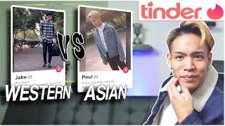 WESTERN vs ASIAN MEN on Tinder | Online Dating Experiment