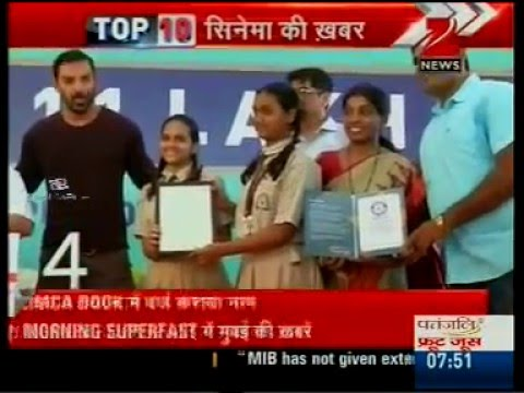Bisleri breaks Guinness World Record - John Abraham felicitates students