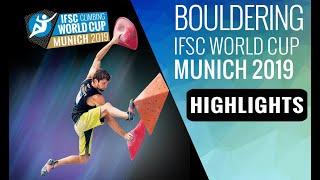 IFSC Climbing World Cup Munich 2019 - Bouldering - Highlights
