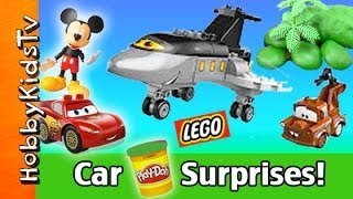 Mickey Mouse and Lightning McQueen Play-Doh Surprise Eggs