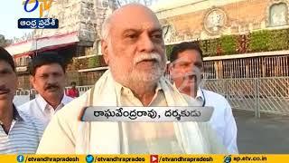 Raghavendra Rao visits Tirumala, Thanks Chandrababu..