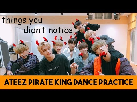 Things You Didn't Notice in ATEEZ's Pirate King Dance Practice (Halloween version)