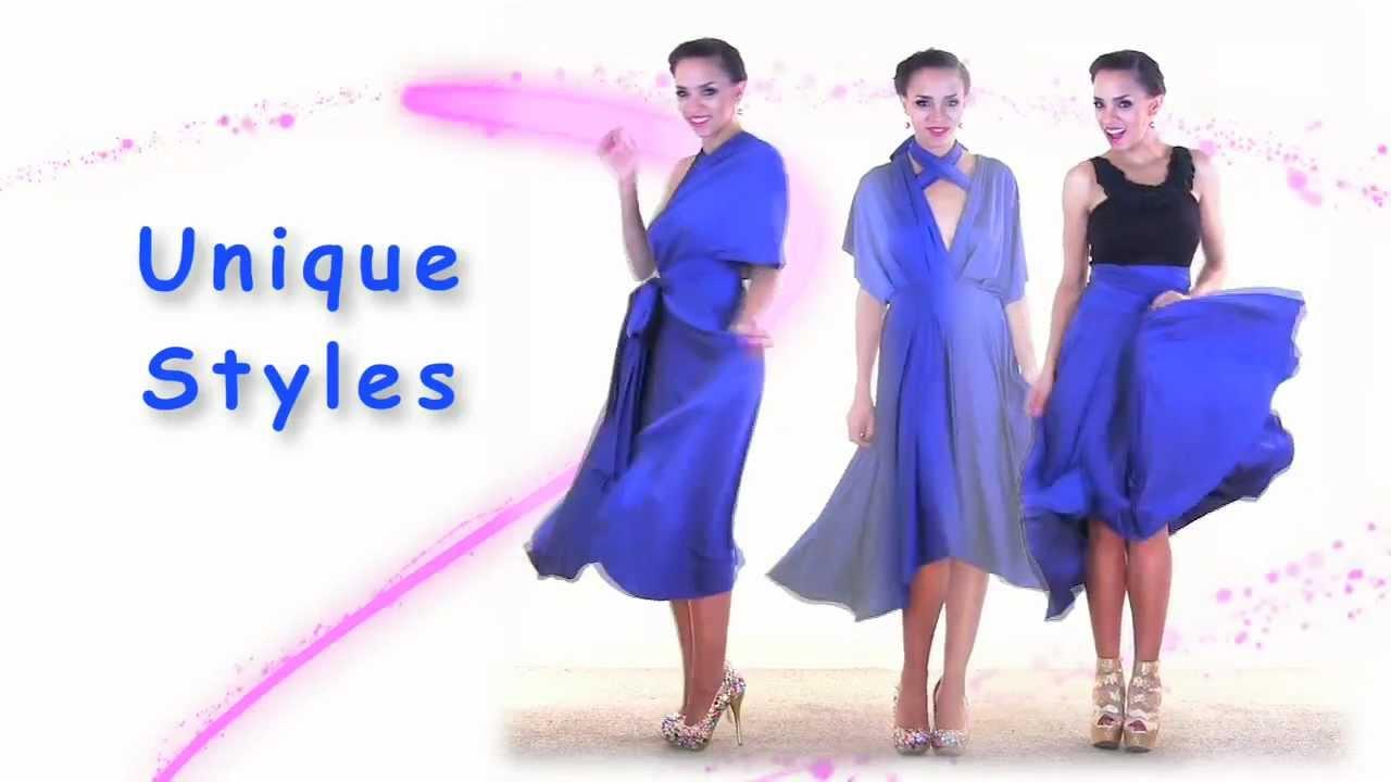 27 Ways To Wear 1 Dress In 7 Minutes Convertible Twist