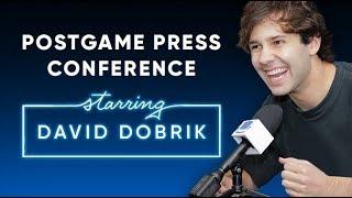 David Dobrik talks love, divorce, and more   Postgame Press Conference with SeatGeek