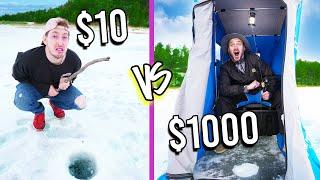 $10 VS $1,000 ICE FISHING! *Budget Challenge*