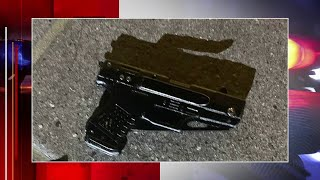 Police shoot shoplifting suspect after he shows gun-shaped knife