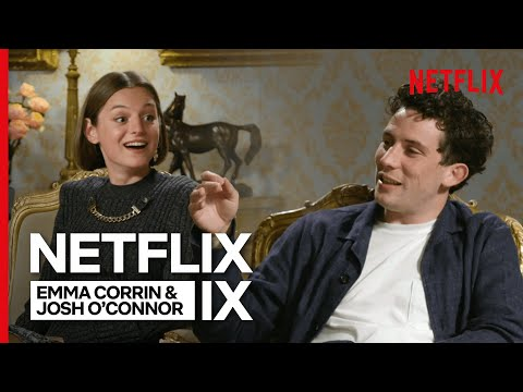 Charles and Diana Chat - Josh O'Connor and Emma Corrin | The Crown