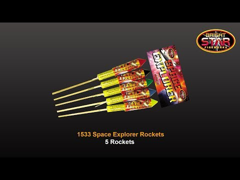 Bright Star Fireworks Space Explorer Rockets - Pack Of 5