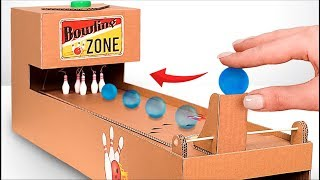 How to Make Interactive Bowling Game From Cardboard!