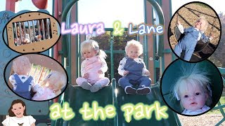 Reborn Toddlers Laura and Lane Play at the Park! | Kelli Maple