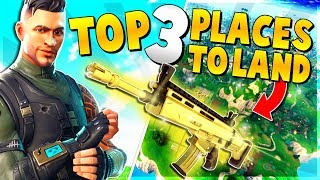 *NEW* TOP 3 UNKNOWN PLACES to Land for EASY WINS and LEGENDARY Weapons | Fortnite Battle Royale