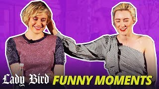 Saoirse Ronan Cute and Funny Moments - Lady Bird (Golden Globe)