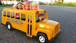 SCHOOL ! Elsa & Anna toddlers – Singing - Alphabet - Math problems - teacher Barbie