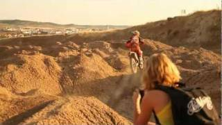 Sandra polo en motocross