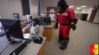 'Welcome Back Gorillas from College Mascot GUS