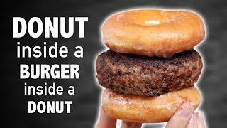 DIY FIVE CRAZY DONUT BURGERS