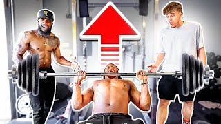 Arm Wrestle & Bench Press Challenge vs Zias!