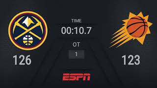 Nuggets @ Suns | NBA on ESPN Live Scoreboard
