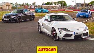 Toyota Supra vs BMW M2 Competition vs Porsche 718 Cayman T vs Alpine A110 | Autocar