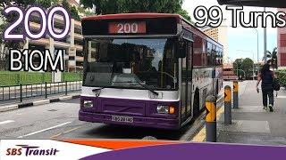 Service 200 | 99 Turns | SBS2814G Volvo B10M DM3500