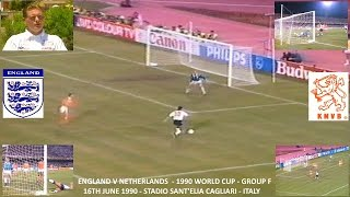 WORLD CUP - ITALY 1990 - ENGLAND V HOLLAND  - GROUP F - 16TH JUNE 1990