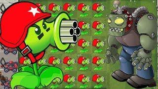 Plants vs Zombies Mod Xmas - Gatling Xmas vs Dr. Zomboss PVZ Hack