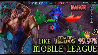 Mobile League (5v5) - Leesin Like LOL 99.99% (Android/IOS Gameplay