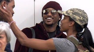 Rapper Ne-Yo Jokes With Friends Before Catching A Flight