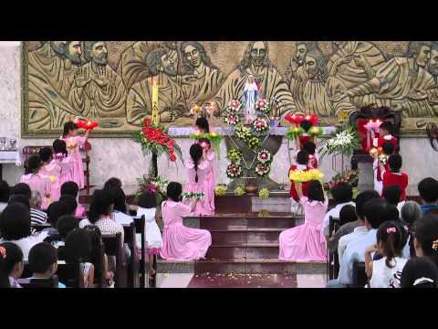 Video khai mạc tháng hoa tại Gx Tân Đông 2014