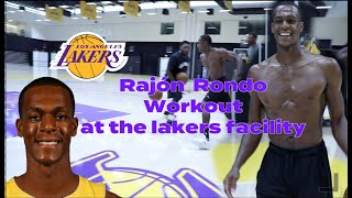 Los Angeles Lakers Rajon Rondo Workout at the Lakers practice facility