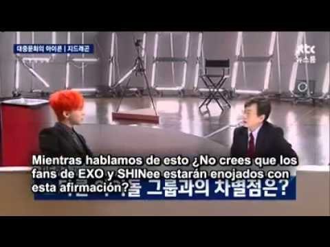 G-Dragon habla acerca de EXO y SHINee (Sub esp)